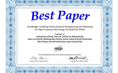 Professor Cong andHis StudentsReceive Best Paper Award from the 29th ACM/SIGDA International Symposium on Field-Programmable Gate Arrays