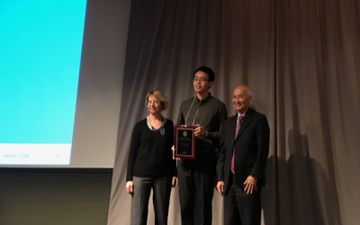 Dr. Zhe Chen receives the 2019 Chancellor's Award for Postdoctoral Research