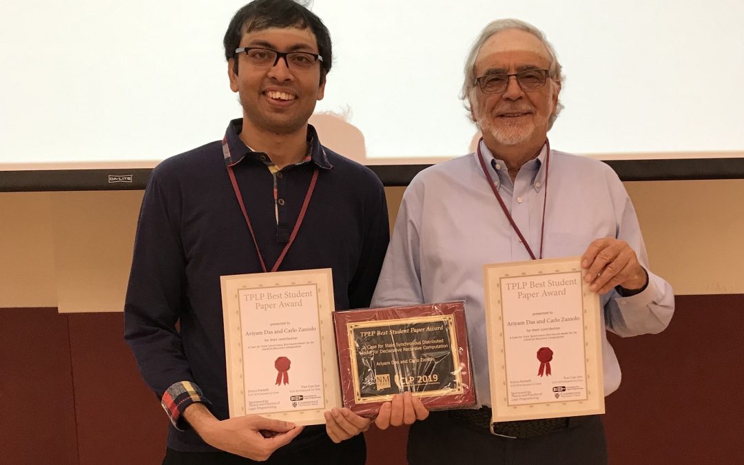 PhD Student Ariyam Das selected for TPLP Best Student Paper Award at ICLP